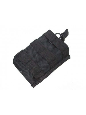 Molle Open Top Magazine/Walkie Talkie Pouch Black