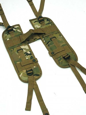 USMC USGI Load Bearing H Harness Suspender Multi Camo