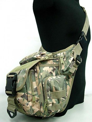 Tactical Utility Shoulder Pack Carrier Bag Multi Camo