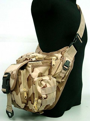 Tactical Utility Shoulder Pack Carrier Bag Desert Camo