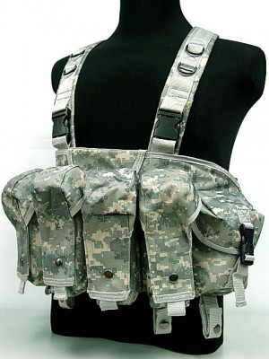 AK Magazine Chest Rig Carry Vest Digital ACU Camo
