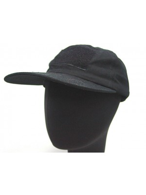Velcro Patch Baseball Hat Cap Black