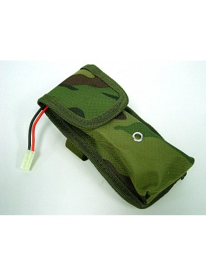 AEG External Large Battery Pouch Bag Pack Camo Woodland
