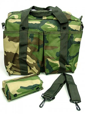 Tactical Shoulder 2 Ways Bowling Bag Camo Woodland