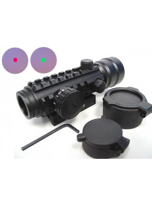2x42 42mm Tri-rail Red/Green Dot Sight AEG Rifle Scope