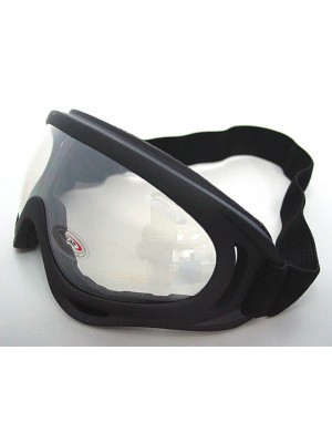 Airsoft UV-X400 Wind Dust Tactical Goggle Glasses Clear