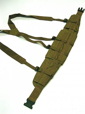Molle II Panel Platform Waist Belt Suspender Coyote Brown