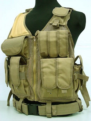 Airsoft Tactical Hunting Combat Vest Coyote Brown