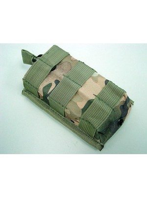 Molle Open Top Magazine/Walkie Talkie Pouch Multi Camo
