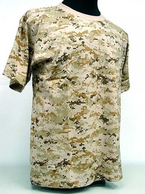 Camouflage Short Sleeve T-Shirt Digital Desert Camo