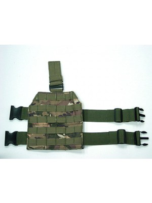 Airsoft Molle Drop Leg Panel Platform Multi Camo