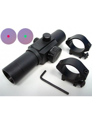 30mm Airsoft Red/Green Dot Sight Reticle Scope QD Mount
