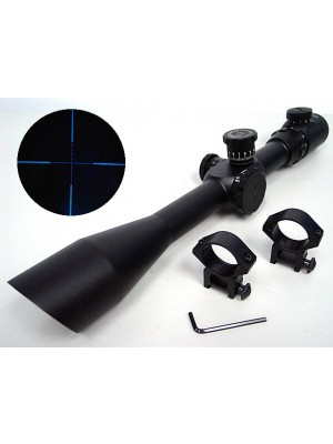 8-32x50 Blue Illuminated Crosshair Sniper Rifle Scope