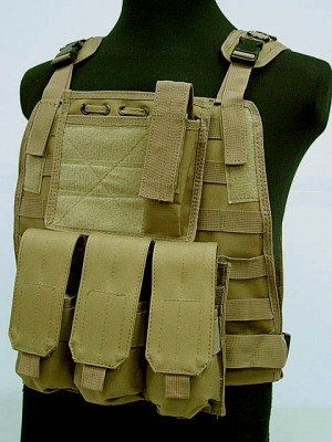 US Marine Assault Molle Plate Carrier Vest Coyote Brown