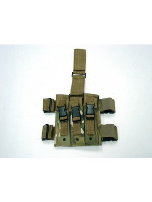 Triple MP5 Magazine Drop Leg Pouch Multi Camo