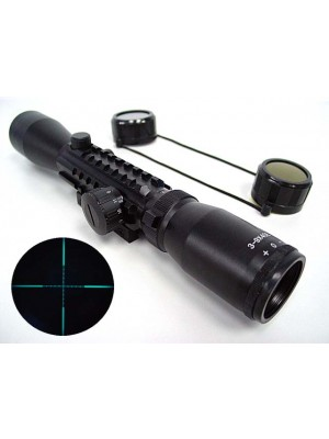3-9x40 Blue Illuminated Mil-Dot Tri-rail Rifle Scope