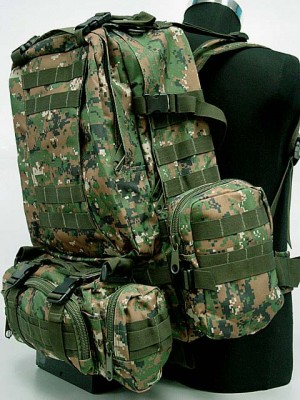 CamelPack Tactical Molle Assault Backpack Digital Camo Woodland