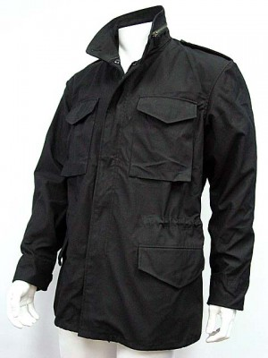 US Army M-65 Field Jacket Coat Black