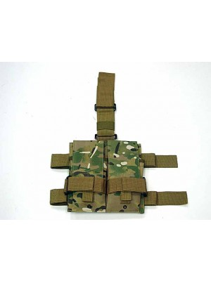 Double Magazine Drop Leg Pouch Multi Camo