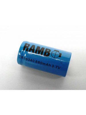 3.7V 880mAh CR123A 16340 Rechargeable Lithium Battery