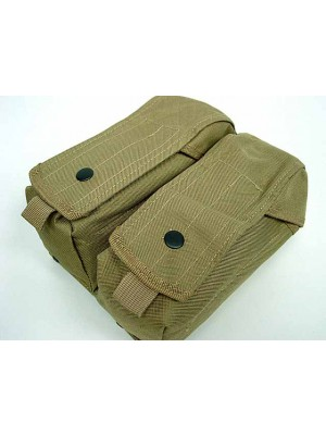 Airsoft Molle Double AK Magazine Pouch Coyote Brown
