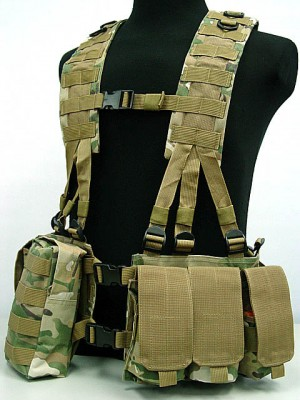 US Army Delta Elite Seal Molle Hydration Vest Multi Camo