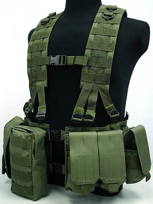 US Army Delta Elite Seal Molle Hydration Vest OD