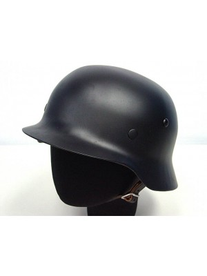 WWII WW2 German MOD M35 Luftwaffe Steel Helmet Black