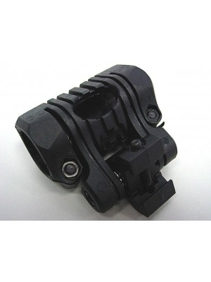 "Element 1""/25mm 5 Position Flashlight Laser 20mm Rail Mount BK"