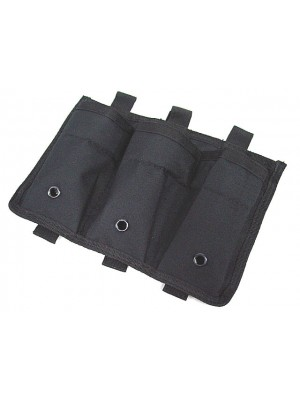 Airsoft Molle Triple Magazine Open Top Pouch Black