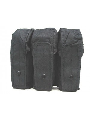 Airsoft Molle Triple AK Magazine Pouch Black