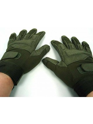 Special Operation Tactical Full Finger Assault Gloves OD