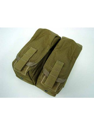Flyye 1000D Molle Double AK Magazine Pouch Coyote Brown