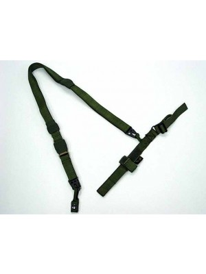 Flyye 1000D Airsoft 3-Point QD Rifle Sling OD