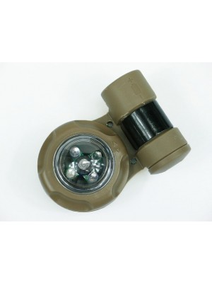 Element Green & IR LED VIP Safety Signal Strobe Light Seals Tan