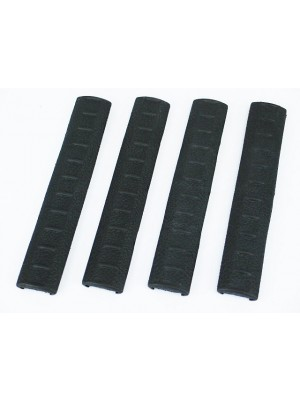 APS KAC Rubber RIS RAS Rail Cover Panel 4pcs Set Black