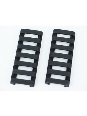 ERGO 7-Slot Ladder LowPro Rail Cover 2pcs Black