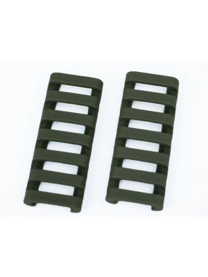 ERGO 7-Slot Ladder LowPro Rail Cover 2pcs Foliage Green