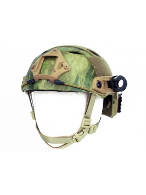 Airsoft FAST Carbon Style Helmet A-TACS FG Camo