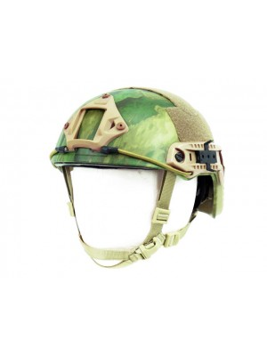 Airsoft FAST Carbon Style Helmet V2 A-TACS FG Camo