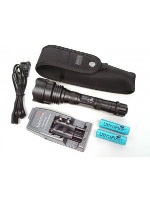 UltraFire WF-500 3x P4 CREE LED Flashlight w/Battery & Charger