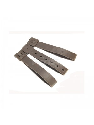 FMA High Quality Durable Tactical Molle System 5 Inch Long Malice Clips 3pcs Set Tan TB1031-DE