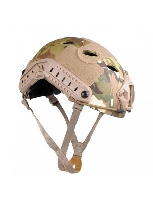 Airsoft FAST Carbon Style Helmet Multi Camo