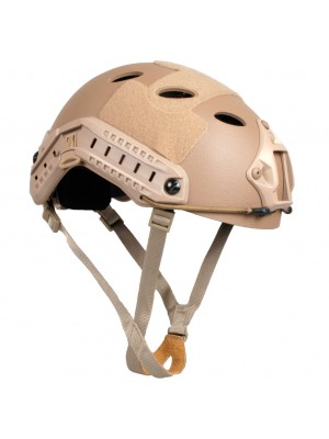 Airsoft FAST Carbon Style Helmet Tan