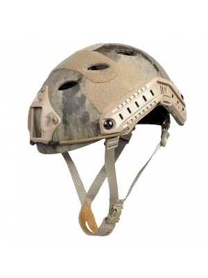 Airsoft FAST Carbon Style Helmet A-TACS Camo