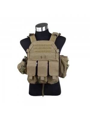 Tactical Molle Recon Plate Carrier Vest Coyote Brown